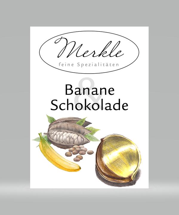 Banane Schokolade