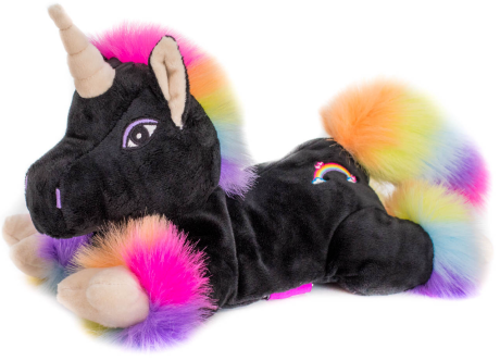 Einhorn Black Rainbow mit Klettverschluss