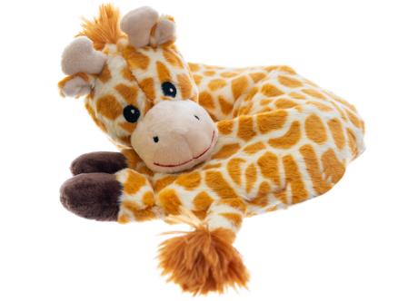 Nackenhörnchen Giraffe mit Klettverschluss